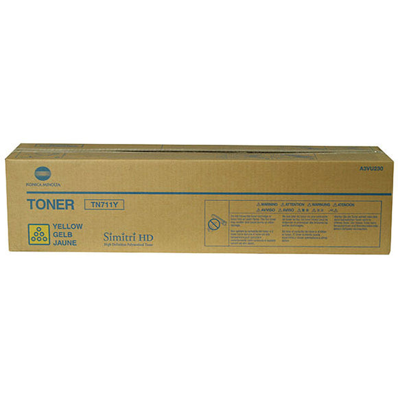 Konica Minolta A3VU230 (TN711Y) Yellow Toner Cartridge (31,500 Yield)