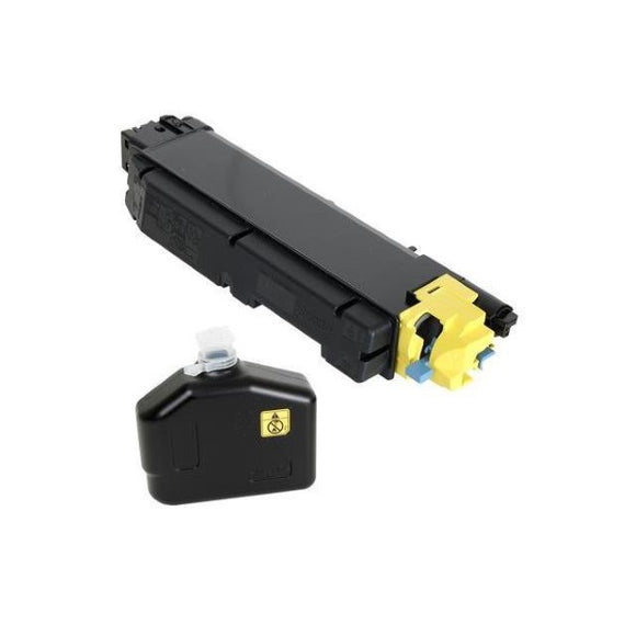 Kyocera TK-5142Y Yellow Toner Cartridge Includes Waste Container (5,000 Yield)