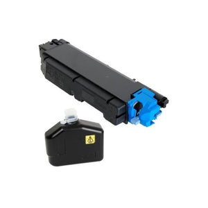Kyocera TK-5152C Cyan Toner Cartridge (Includes Waste Container) (10,000 Yield)