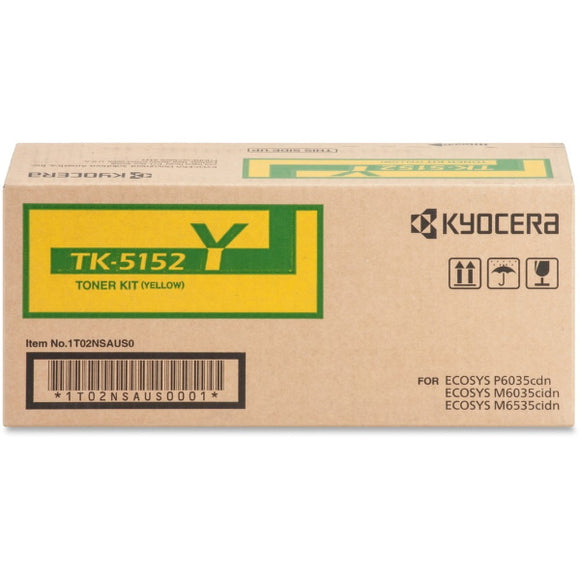 Kyocera TK-5152Y Yellow Toner Cartridge (Includes Waste Container) (10,000 Yield)