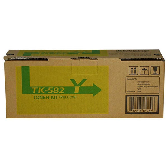 Kyocera TK582Y Yellow Toner Cartridge (2,800 Yield)