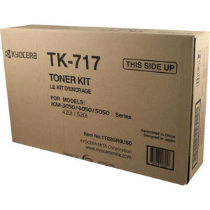 Kyocera TK717 Toner Cartridge Includes 2 Waste Toner Containers (34,000 Yield)