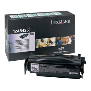 Lexmark 12A8425 High Yield Return Program Toner Cartridge (12,000 Yield)