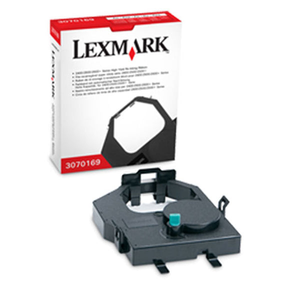 Lexmark 3070169 High Yield Black Re-Inking Printer Ribbon (8M Characters)