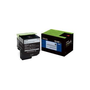 Lexmark 70C1XK0 (701XK) Extra High Yield Black Return Program Toner Cartridge (8,000 Yield)