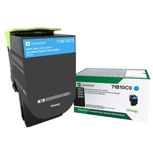Lexmark 71B10C0 Cyan Return Program Toner Cartridge (2,300 Yield)