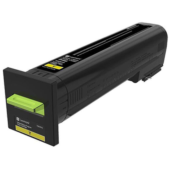 Lexmark 72K00YG Yellow Return Program Toner Cartridge for US Government (8,000 Yield) (TAA Compliant Version of 72K10Y0)