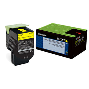 Lexmark 80C0XYG Extra High Yield Yellow Return Program Toner Cartridge for US Government (4,000 Yield) (TAA Compliant Version of 80C1XY0)