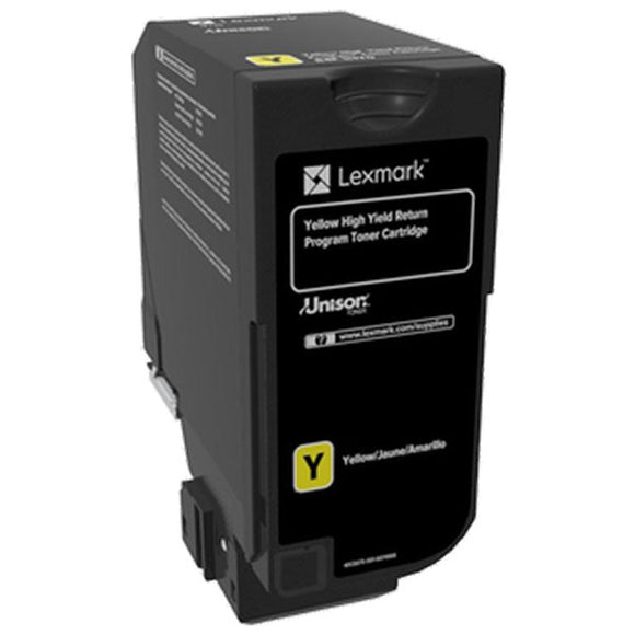 Lexmark 84C0HYG High Yield Yellow Return Program Toner Cartridge for US Government (16,000 Yield) (TAA Compliant Version of 84C1HY0)