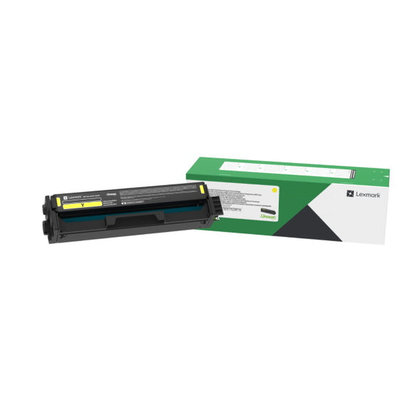 Lexmark C331HY0 Yellow High Yield Return Program Toner Cartridge (2,500 Yield)