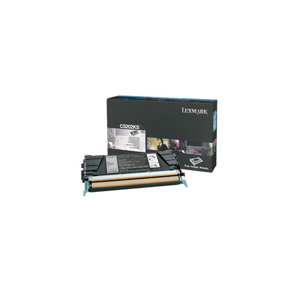 Lexmark C5202KS Black Toner Cartridge (1,500 Yield)