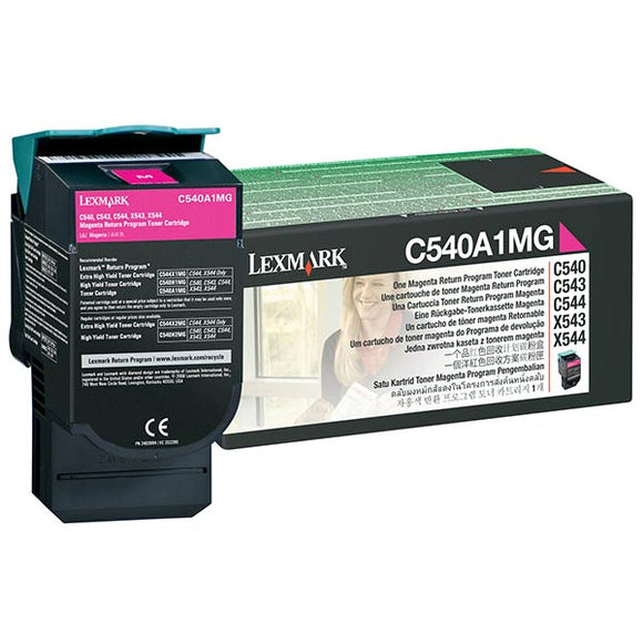 Lexmark C540A1MG Magenta Return Program Toner Cartridge (1,000 Yield)
