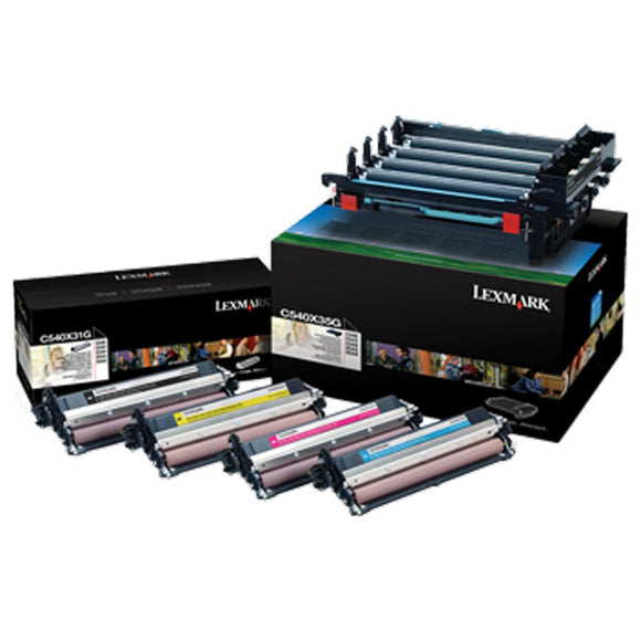Lexmark C540X74G Black and Color Imaging Kit (Includes Photoconductor Unit and 1 Each Photodeveloper Unit for C/M/Y/K) (30,000 Yield) - Technology Inks Pro, LLC.