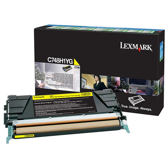 Lexmark C748H1YG High Yield Yellow Return Program Toner Cartridge (10,000 Yield) (For Use in Model C748)