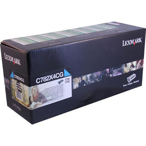 Lexmark C782X4CG Extra High Yield Cyan Return Program Toner Cartridge for US Government (15,000 Yield) (TAA Compliant Version of C782X1CG)