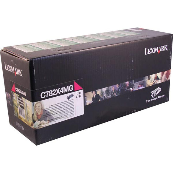 Lexmark C782X4MG Extra High Yield Magenta Return Program Toner Cartridge for US Government (15,000 Yield) (TAA Compliant Version of C782X1MG)