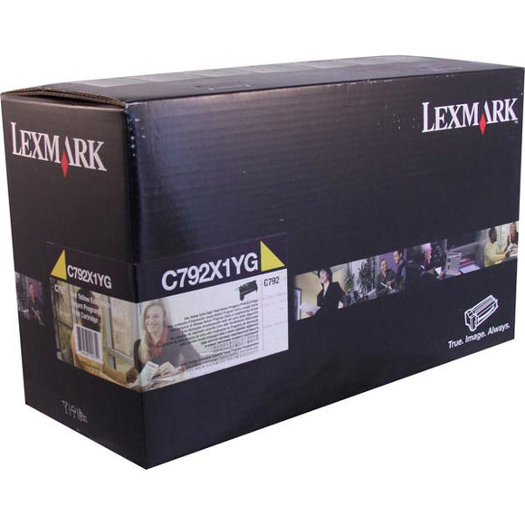 Lexmark C792X1YG Extra High Yield Yellow Return Program Toner Cartridge (20,000 Yield)