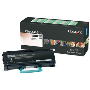 Lexmark X264A41G Return Program Toner Cartridge for US Government (3,500 Yield) (TAA Compliant Version of X264A11G)