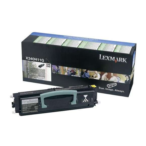 Lexmark X340H11G High Yield Return Program Toner Cartridge (6,000 Yield)