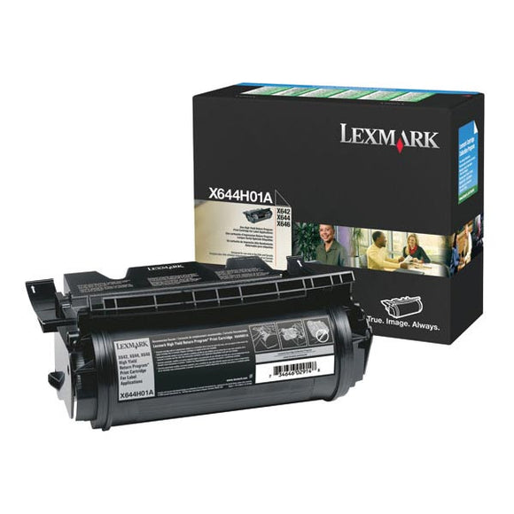 Lexmark X644H01A High Yield Return Program Toner Cartridge for Label Applications (21,000 Yield)