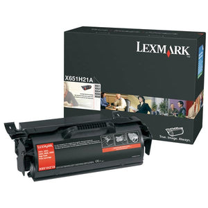 Lexmark X651H21A High Yield Toner Cartridge (25,000 Yield)