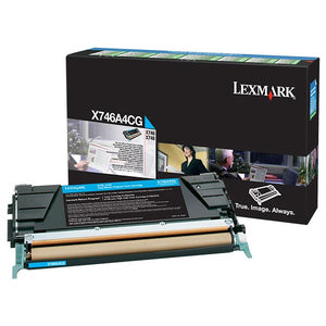 Lexmark X746A4CG Cyan Return Program Toner Cartridge for US Government (7,000 Yield) (TAA Compliant Version of X746A1CG)