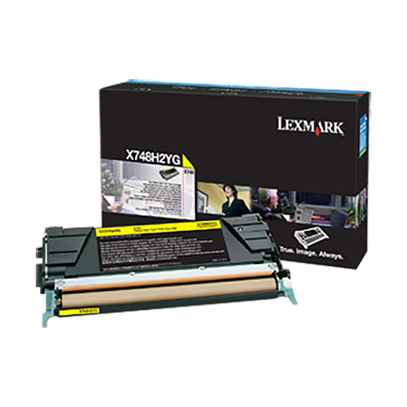 Lexmark X748H2YG High Yield Yellow Toner Cartridge (10,000 Yield) (For Use in Model X748)