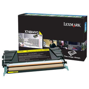 Lexmark X748H4YG High Yield Yellow Return Program Toner Cartridge for US Government (10,000 Yield) (For Use in Model X748) (TAA Compliant Version of X748H1YG)