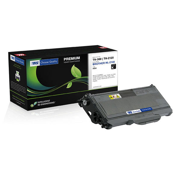 MSE MSE02033616 Remanufactured High Yield Toner Cartridge (Alternative for Brother TN360) (2,600 Yield)