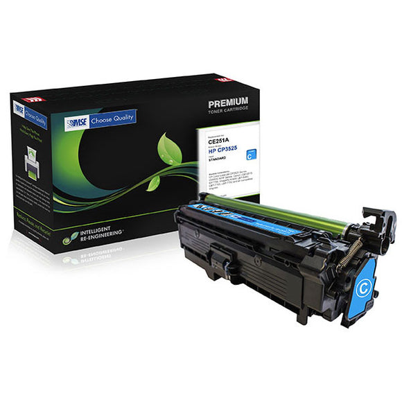 MSE MSE022135114 Remanufactured Cyan Toner Cartridge (Alternative for HP CE251A 504A) (7,000 Yield)