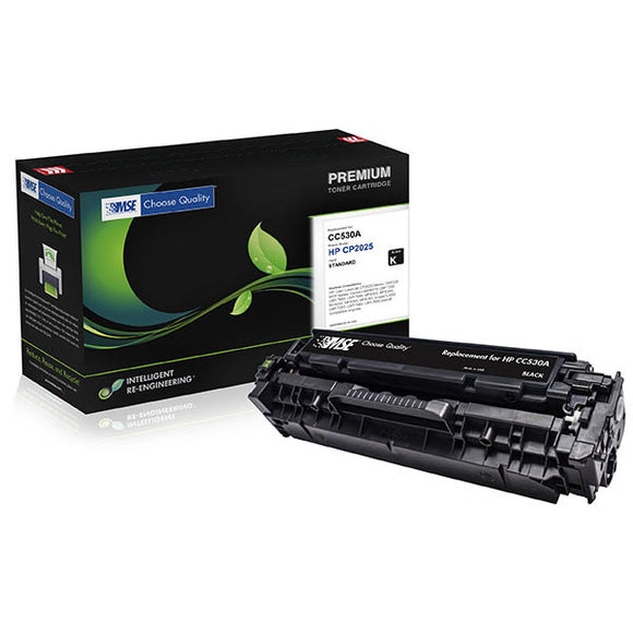 MSE MSE022153014 Remanufactured Black Toner Cartridge (Alternative for HP CC530A 304A Canon 2662B001AA CRG-118K) (3,500 Yield)