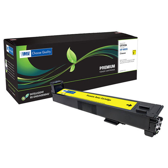 MSE MSE022185214 Remanufactured Yellow Toner Cartridge (Alternative for HP CF312A 826A) (31,500 Yield)