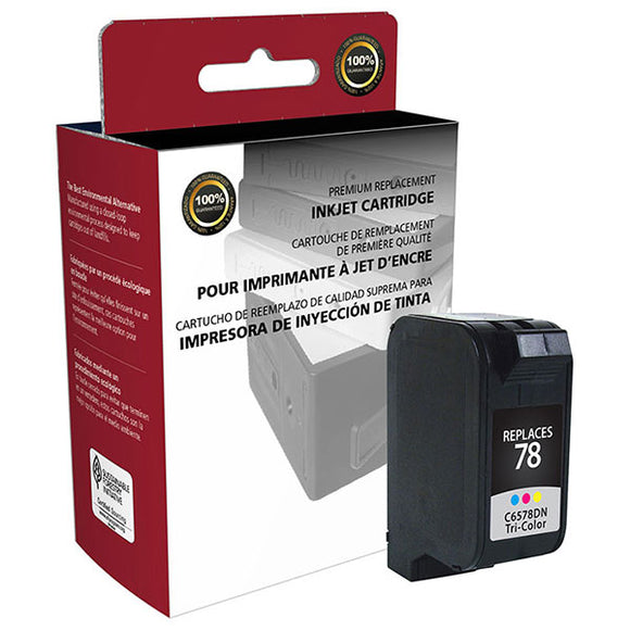 Clover Imaging Group 114506 Remanufactured Tri-Color Ink Cartridge (Alternative for HP C6578DN 78) (450 Yield)