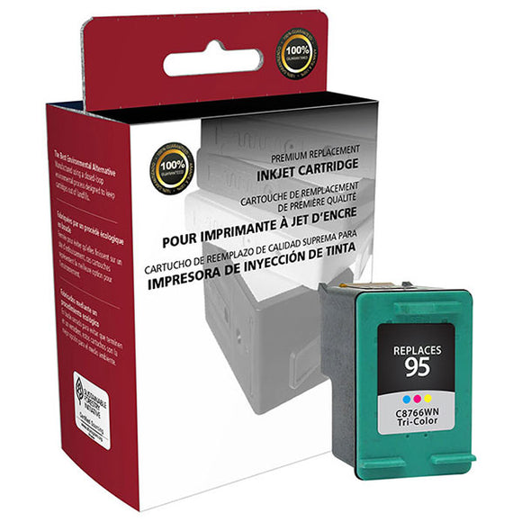 Clover Imaging Group 114544 Remanufactured Tri-Color Ink Cartridge (Alternative for HP C8766WN 95) (330 Yield)