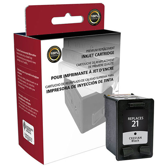 Clover Imaging Group 114547 Remanufactured Black Ink Cartridge (Alternative for HP C9351AN 21) (190 Yield)