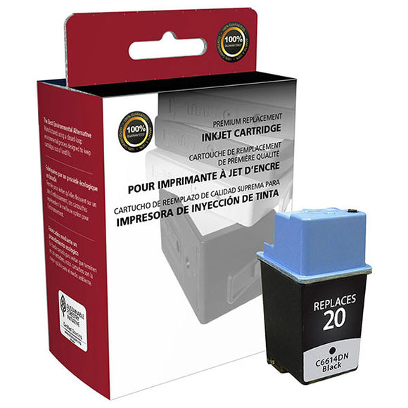 Clover Imaging Group 114755 Remanufactured Black Ink Cartridge (Alternative for HP C6614D 20) (455 Yield)