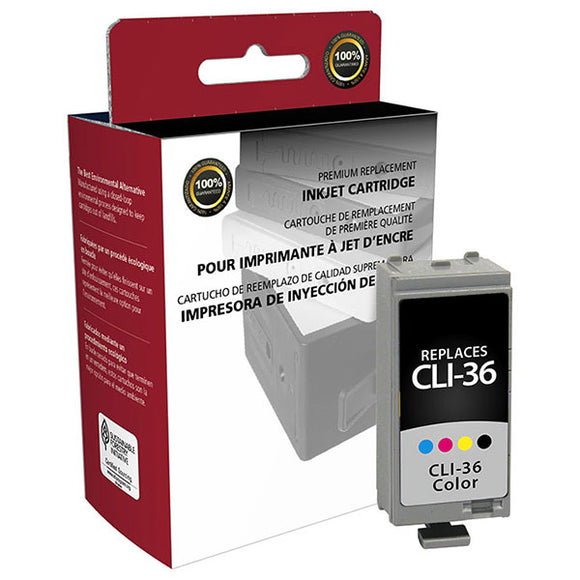 Clover Imaging Group 117012 Remanufactured Color Ink Tank (Alternative for Canon 1511B002 CLI-36) (249 Yield)