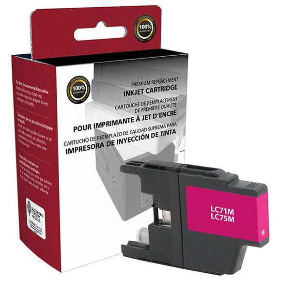 Clover Imaging Group 117425 Remanufactured High Yield Magenta Ink Cartridge (Alternative for Brother LC71M LC75M) (600 Yield)