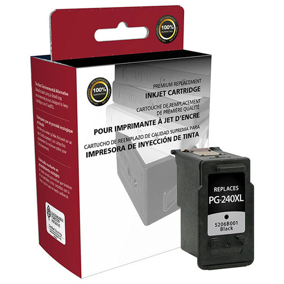 Clover Imaging Group 117832 Remanufactured High Yield Black Ink Cartridge (Alternative for Canon 5206B001 PG-240XL) (300 Yield)