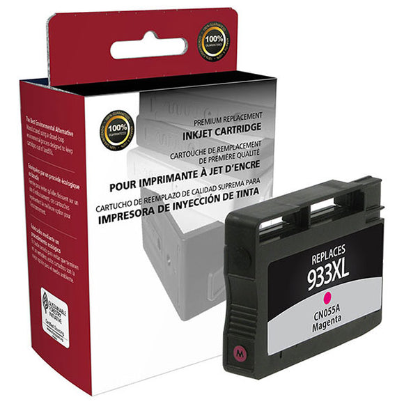 Clover Imaging Group 118013 Remanufactured High Yield Magenta Ink Cartridge (Alternative for HP CN055AN 933XL) (825 Yield)