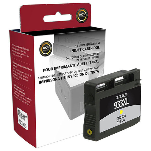 Clover Imaging Group 118014 Remanufactured High Yield Yellow Ink Cartridge (Alternative for HP CN056AN 933XL) (825 Yield)