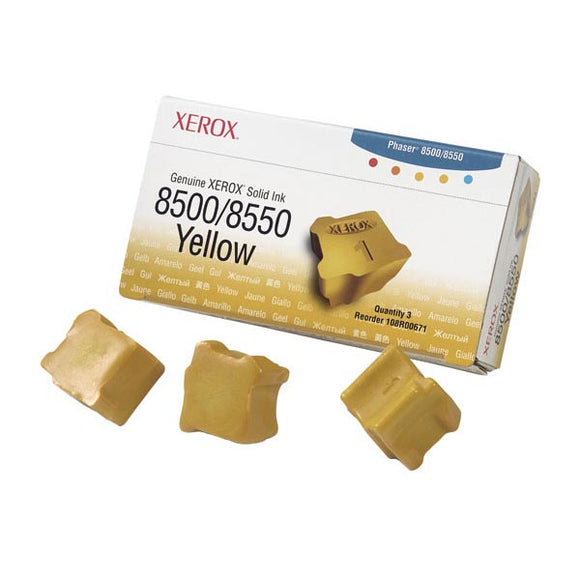 Xerox 108R00671 Yellow Solid Ink (3 Sticks/Box) (Total Box Yield 3,000)