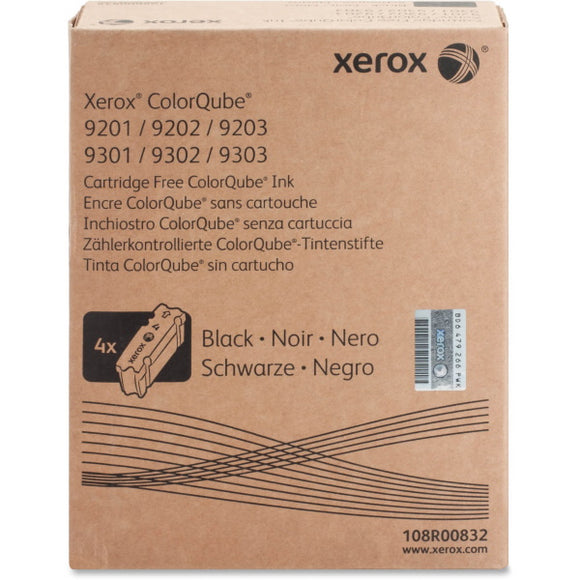 Xerox 108R00832 Black Solid Ink (4 Sticks/Box) (Total Box Yield 40,000)