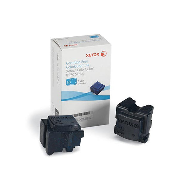 Xerox 108R00926 Cyan Solid Ink (2 Sticks/Box) (Total Box Yield 4,400)