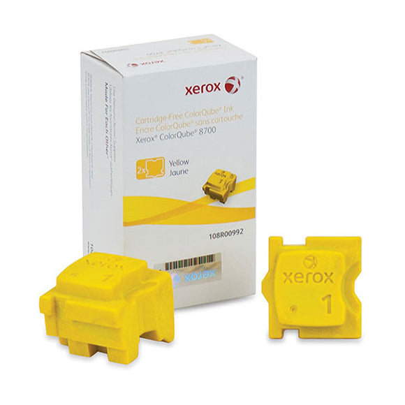 Xerox 108R00992 Yellow Solid Ink (2 Sticks/Box) (Total Box Yield 4,200)