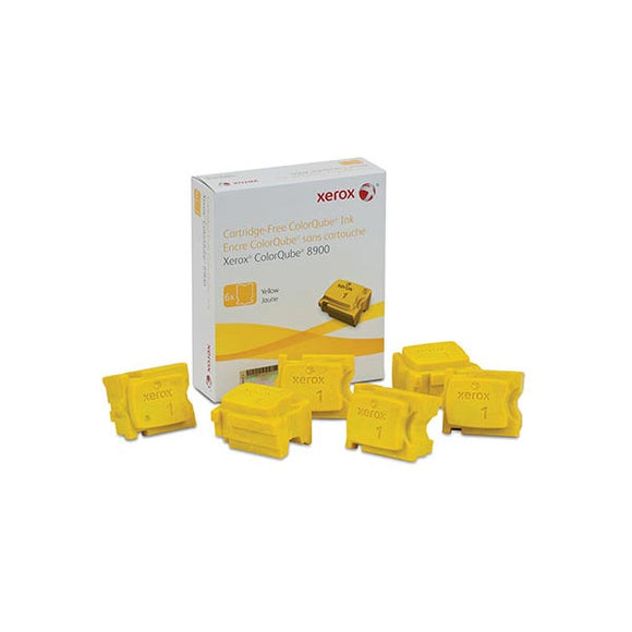 Xerox 108R01016 Yellow Solid Ink (6 Sticks/Box) (Total Box Yield 16,900)