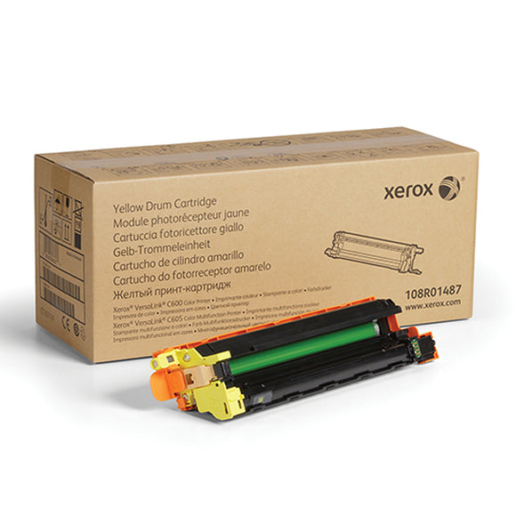 Xerox 108R01487 Yellow Drum Cartridge (40,000 Yield) - Technology Inks Pro, LLC.
