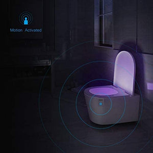 NA Light 16 colores UV desinfectante inodoro luz nocturna sensor de movimiento activado lámpara LED Gadget