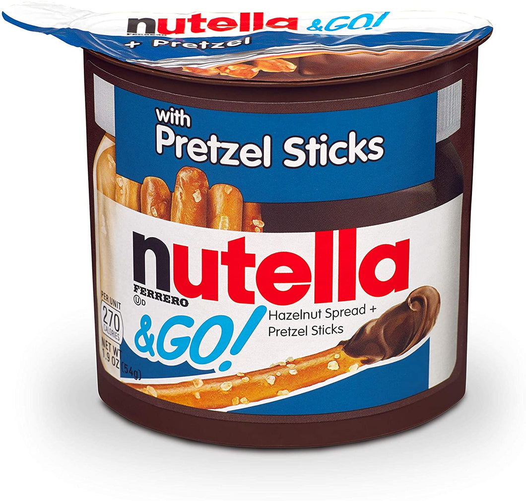nutella and go pretzel