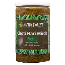 Load image into Gallery viewer, Nutri Forest Small Green Chilli Pickle [Choti Hari Mirch Ka Achar] - Nutri Forest